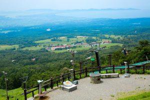 大山の観光と春のスキー旅行
