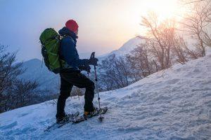 大山でのスノーシューツアー
